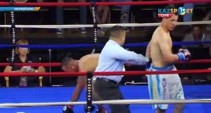 Жанқош Тұраров қарсыласын нокаутқа түсірді (ВИДЕО)