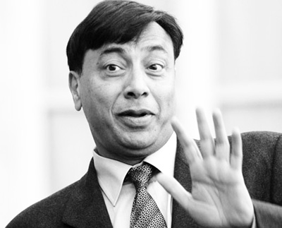 Lakshmi Mittal, Arcelor Mittal's President and Chief Executive Officer, leaves the Elysee Palace in Paris